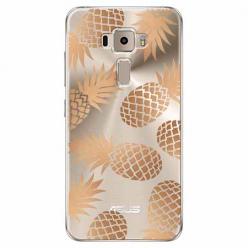 Etui na Zenfone 3 - Złote ananasy.