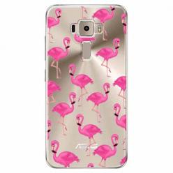 Etui na Zenfone 3 - Różowe flamingi.