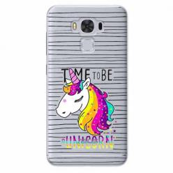 Etui na Zenfone 3 Max - Time to be unicorn - Jednorożec.