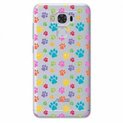 Etui na Zenfone 3 Max - Kolorowe psie łapki.