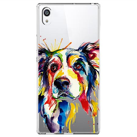 Etui na Sony Xperia E5 - Watercolor pies.