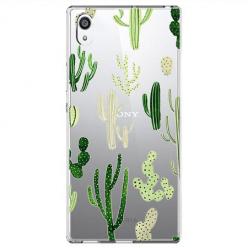 Etui na Sony Xperia E5 - Kaktusowy ogród.
