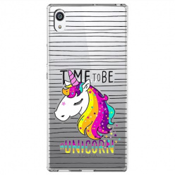 Etui na Sony Xperia E5 - Time to be unicorn - Jednorożec.