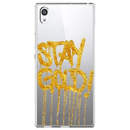 Etui na Sony Xperia E5 - Stay Gold.
