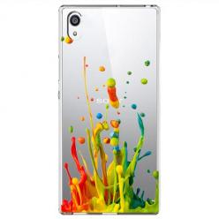 Etui na Sony Xperia E5 - Kolorowy splash.