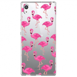 Etui na Sony Xperia E5 - Różowe flamingi.