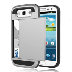 Etui na Samsung Galaxy S3 - Pancerne - Srebrny.