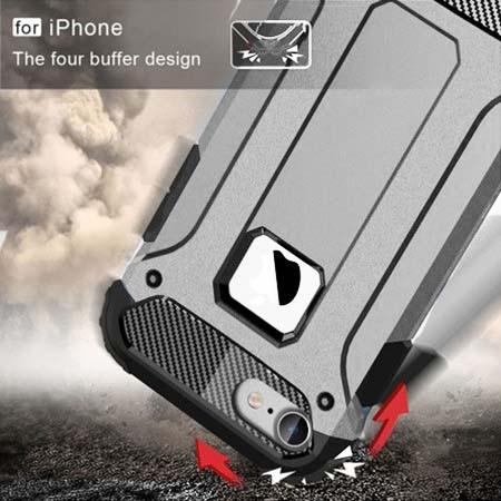 Pancerne etui na iPhone 7 - Srebrny