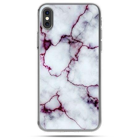 Etui na telefon iPhone XS - różowy marmur