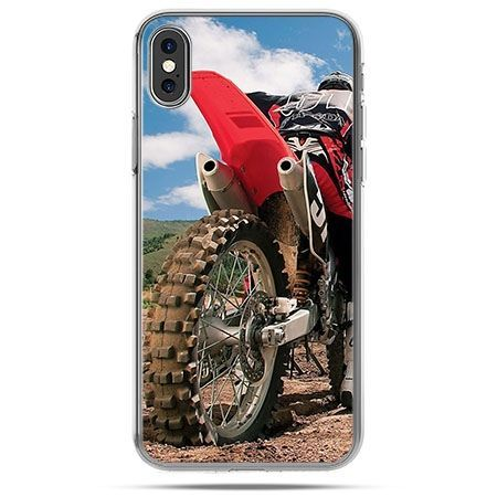 Etui na telefon iPhone XS - Cross motocykl