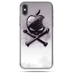 Etui na telefon iPhone XS - logo Apple czacha
