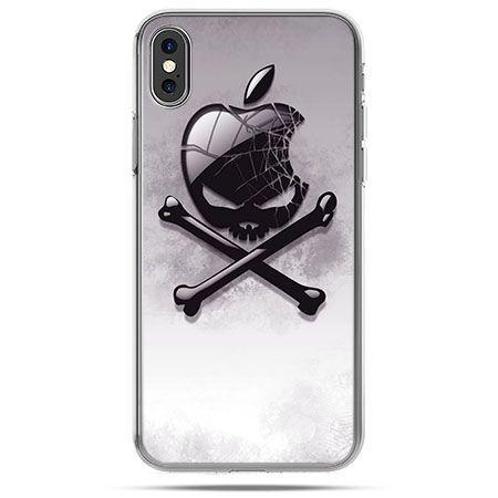 Etui na telefon iPhone XS - logo Apple czacha