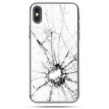 Etui na telefon iPhone XS - rozbita szybka