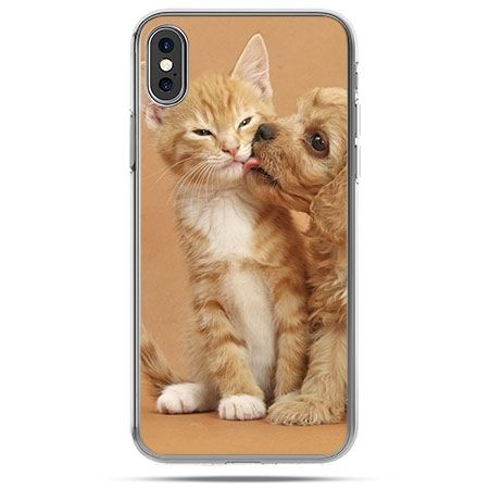 Etui na telefon iPhone XS - jak pies i kot