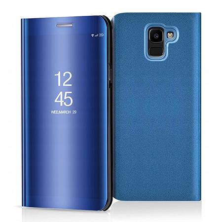 Etui na Samsung Galaxy J6 2018 - Flip Clear View z klapką - Niebieski.