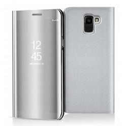 Etui na Samsung Galaxy J6 2018 - Flip Clear View z klapką - Srebrny.