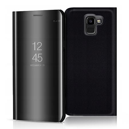 Etui na Samsung Galaxy J6 2018 - Flip Clear View z klapką - Czarny.