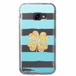 Etui na Samsung Galaxy Xcover 4 - Złota czterolistna koniczyna.