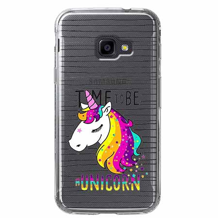Etui na Samsung Galaxy Xcover 4 - Time to be unicorn - Jednorożec.