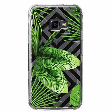 Etui na Samsung Galaxy Xcover 4 - Egzotyczne liście bananowca.