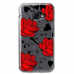Etui na Samsung Galaxy Xcover 4 - Czerwone róże.