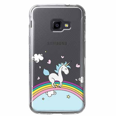 Etui na Samsung Galaxy Xcover 4 - Jednorożec na tęczy.