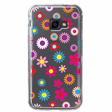 Etui na Samsung Galaxy Xcover 4 - Kolorowe stokrotki.