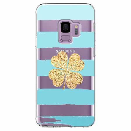 Etui na Samsung Galaxy S9 - Złota czterolistna koniczyna.