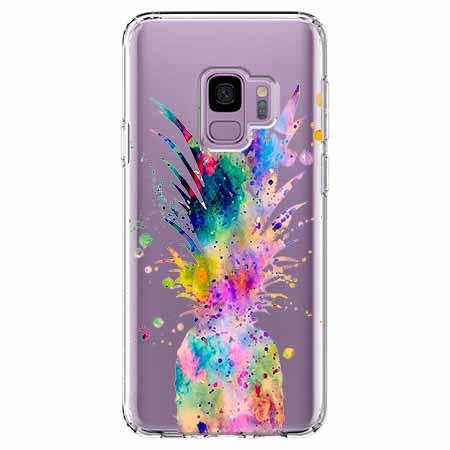 Etui na Samsung Galaxy S9 - Watercolor ananasowa eksplozja.