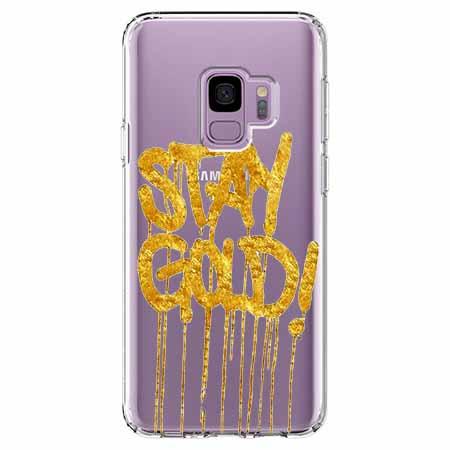 Etui na Samsung Galaxy S9 - Stay Gold.