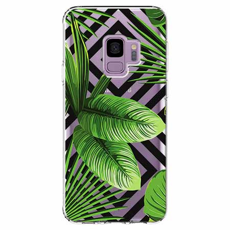 Etui na Samsung Galaxy S9 -  Egzotyczne liście bananowca.