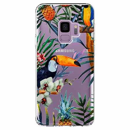 Etui na Samsung Galaxy S9 - Egzotyczne tukany.