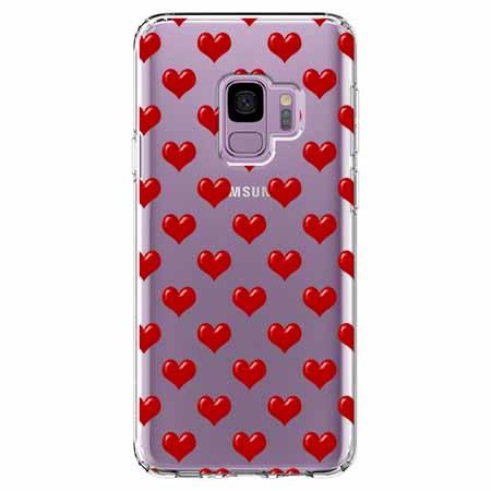 Etui na Samsung Galaxy S9 - Czerwone serduszka.