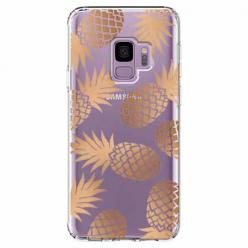 Etui na Samsung Galaxy S9 - Złote ananasy.
