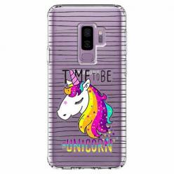 Etui na Samsung Galaxy S9 Plus - Time to be unicorn - Jednorożec.