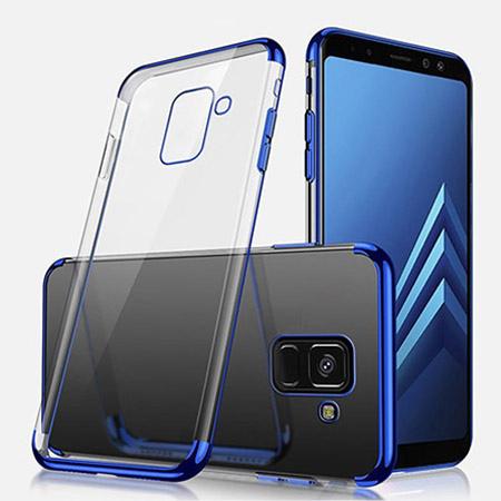 Etui na Samsung Galaxy J6 2018 - silikonowe platynowane SLIM - Niebieski.