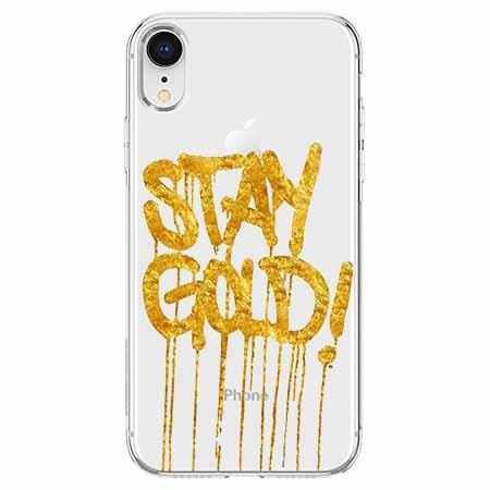 Etui na telefon Apple iPhone XR - Stay Gold.