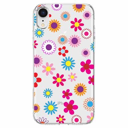 Etui na telefon Apple iPhone XR - Kolorowe stokrotki.