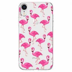 Etui na telefon Apple iPhone XR - Różowe flamingi.