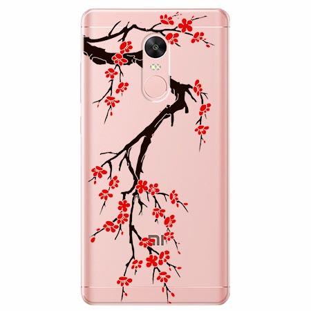 Etui na telefon Xiaomi Redmi 5 - Krzew kwitnącej wiśni.