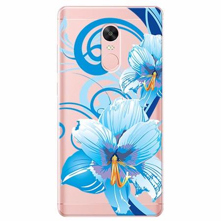 Etui na telefon Xiaomi Redmi 5 - Niebieski kwiat północy.