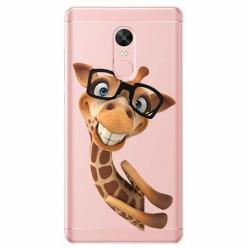 Etui na telefon Xiaomi Redmi 5 - Wesoła żyrafa w okularach.