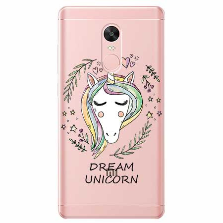 Etui na telefon Xiaomi Redmi 5 - Dream unicorn - Jednorożec.