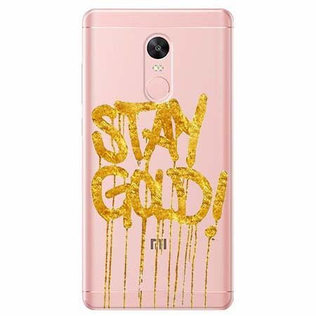 Etui na telefon Xiaomi Redmi 5 - Stay Gold.