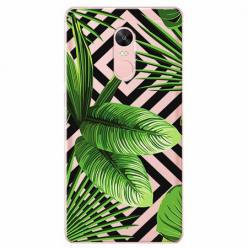 Etui na telefon Xiaomi Redmi 5 - Egzotyczne liście bananowca.