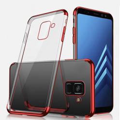 Etui na Samsung Galaxy J6 2018 - silikonowe platynowane SLIM - Czerwony.
