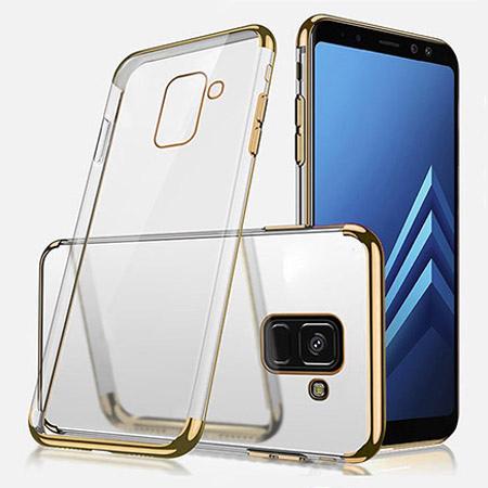 Etui na Samsung Galaxy J6 2018 - silikonowe platynowane SLIM - Złoty.