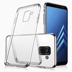 Etui na Samsung Galaxy J6 2018 - silikonowe platynowane SLIM - Srebrny.