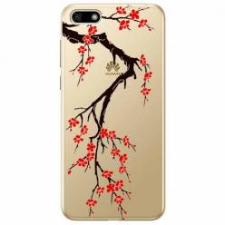 Etui na telefon Huawei Y5 2018 - Krzew kwitnącej wiśni.