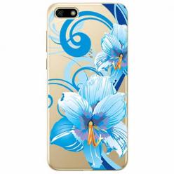 Etui na telefon Huawei Y5 2018 - Niebieski kwiat północy.